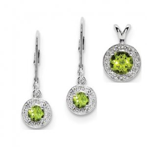 Peridot Pendant WQQBPD11Aug set