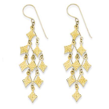 14k yellow gold chandelier earrings waller company jewelers