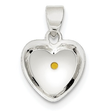 Sterling silver enameled with mustard seed heart pendant waller sterling silver enameled with mustard seed heart pendant aloadofball Image collections